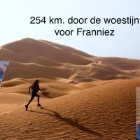 254 km door de woestijn voor Franniez