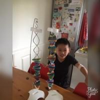 Yun (6 jaar) heeft veel steun aan de Franniez